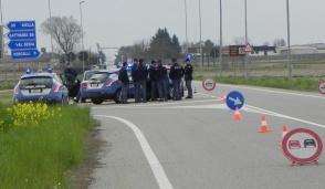 Operazione della Polizia al bivio di Quinto
