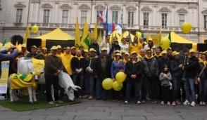 Pasquetta di protesta degli allevatori a Torino