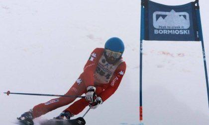 Sci alpino, stagione super per Matteo Borasio