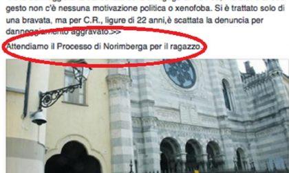 Ironia becera sui danni alla Sinagoga