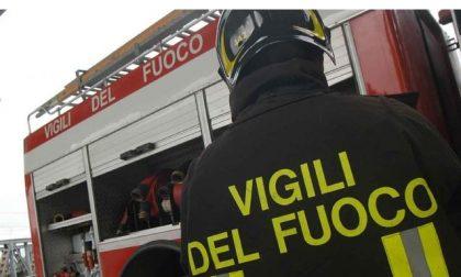 Incendio di un trattore a San Germano