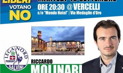 POLITICA: questa sera incontro con la Lega Nord per ribadire il No al referendum