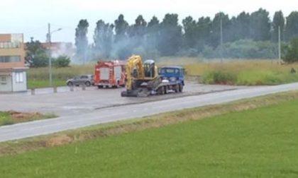 CRONACA: Incendio dei rifiuti a Borgo Vercelli