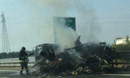 CRONACA: Incendio sull'autostrada A4