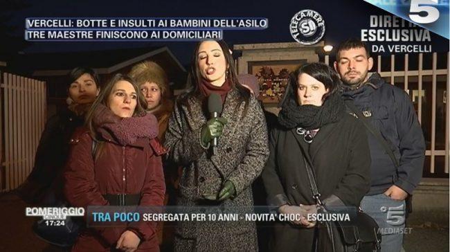 Mamme in piazza contro le violenze all'asilo.