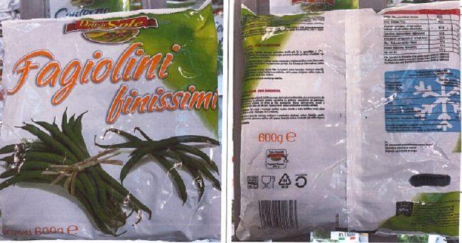Erba velenosa nei fagiolini surgelati venduti da Eurospin: 2 lotti ritirati