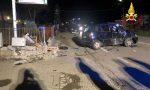 Incidente stradale con fuga di gas nella nottata