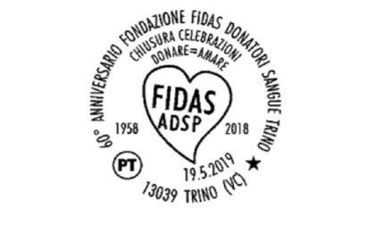 Fidas Trino: annullo postale per i 60 anni