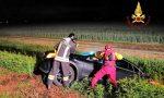 Abbandona l'auto nel fosso dopo l'incidente