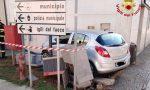 Santhià: scontro in corso Nuova Italia