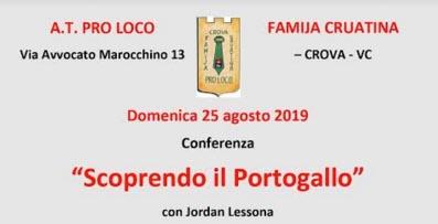 Crova: conferenza sul Portogallo