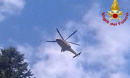 Cercatore di funghi caduto: interviene l'elicottero