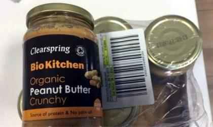 Allerta alimentare per il burro di arachidi dall'Inghilterra
