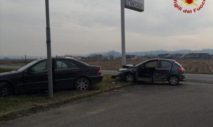 Crescentino: incidente in Frazione Galli