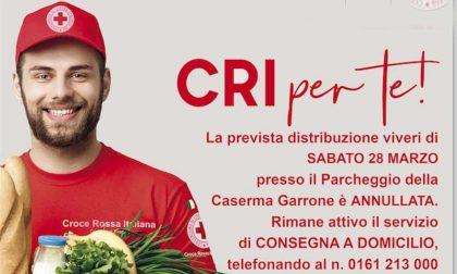 Croce Rossa: distribuzione viveri annullata, prosegue consegna spesa