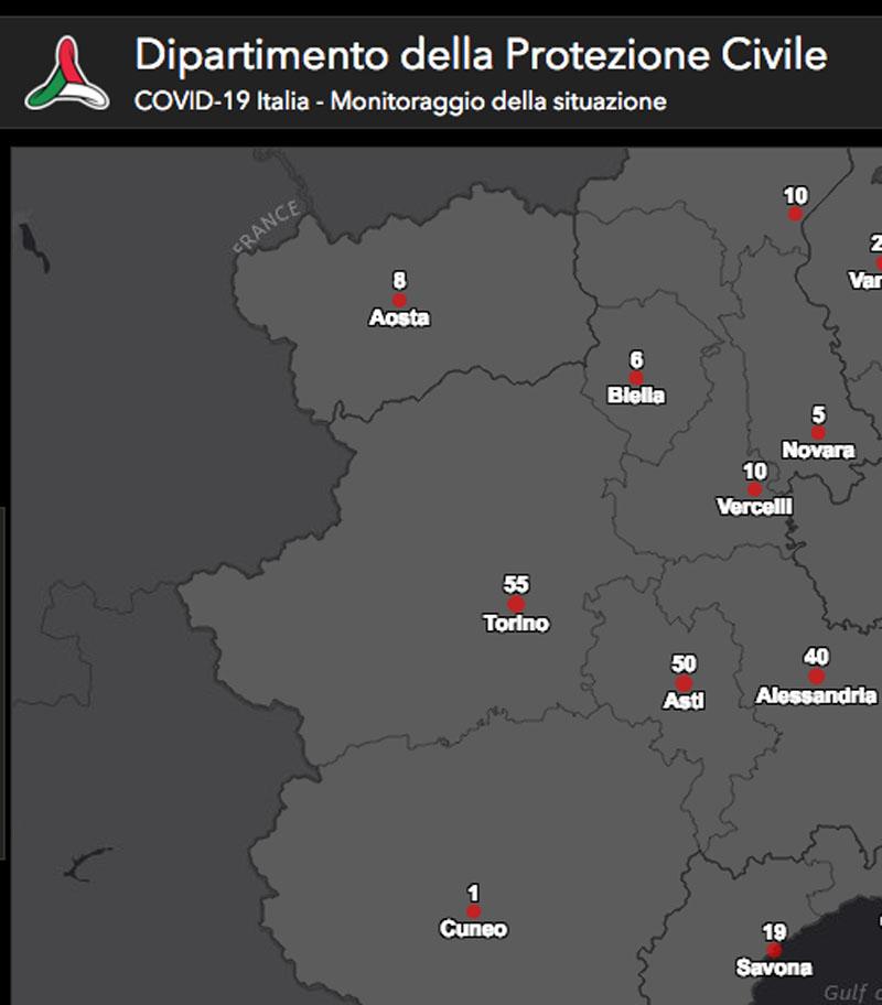 Cartina Italia Interattiva Html.Coronavirus La Mappa On Line Segnala 10 Casi A Vercelli Prima Vercelli
