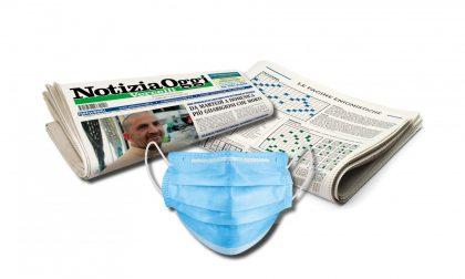 Coronavirus, ancora in edicola la mascherina insieme a Notizia Oggi Vercelli