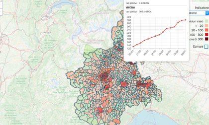 Online la mappa dei contagi in Piemonte