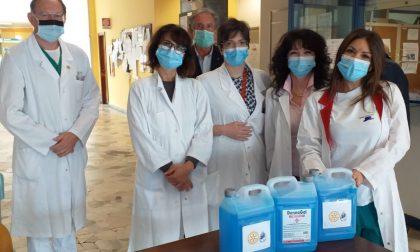 Coronavirus: dal Rotary Club Vercelli gel igienizzante per l'Asl Vc