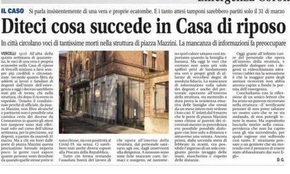 Casa di riposo Vercelli: dopo il nostro articolo si muove la minoranza