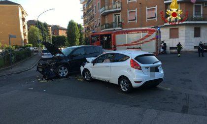 Scontro a Vercelli: 4 feriti