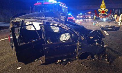 Violento scontro in autostrada: cinque feriti di cui due in codice rosso