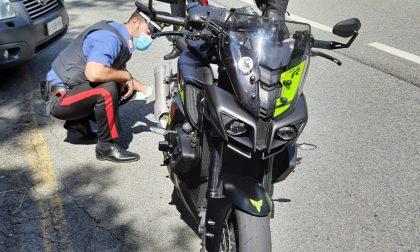"""Controlli dei Carabinieri sulla """"Cremosina"""" sui motociclisti"""