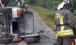 Auto rovesciata a Morondo: due persone incastrate