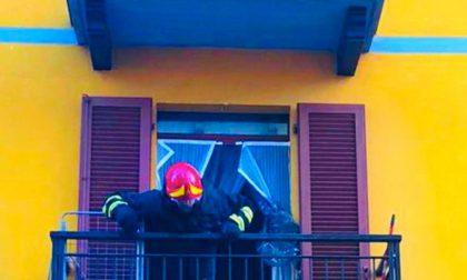 Santhià: alloggio in fiamme