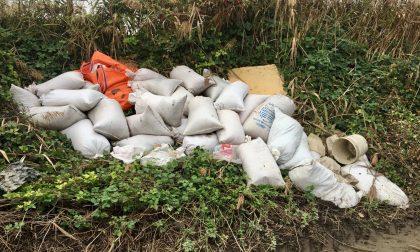 Quintali di lolla abbandonati nelle campagne di Lignana