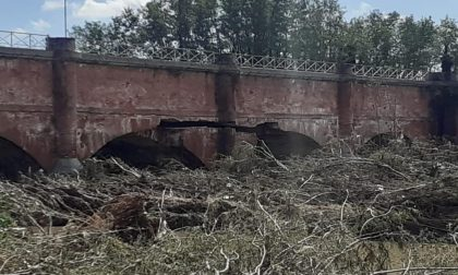 Canale Cavour: danneggiato il ponte sul Cervo
