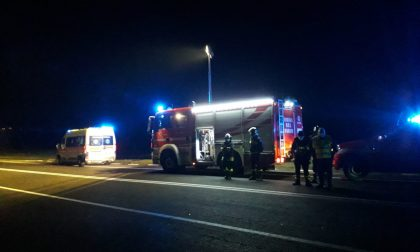 Ambulanza della Pat tamponata sulla Sp 455