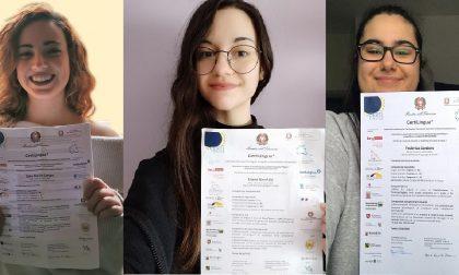 Studentesse Lagrangia al top di CertiLingua