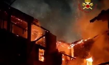 Incendio a Scopa: operazione ancora in corso – Video