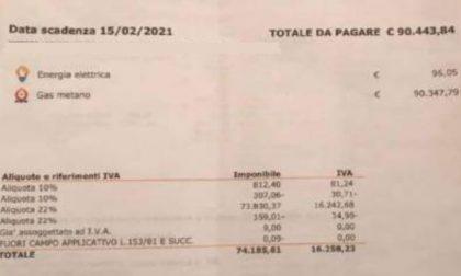 """Bolletta """"pazza"""": 90mila euro di gas"""