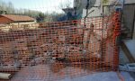 Crolla muraglione della canonica di Rovasenda