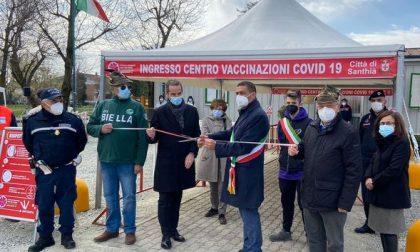 Santhià: inaugurato centro vaccinale nella sede degli Alpini