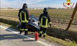 Livorno Ferraris: si ribalta con l'auto nel canale vicino al cimitero