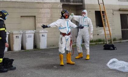 Persona sospetta Covid soccorsa dai Vigili del Fuoco