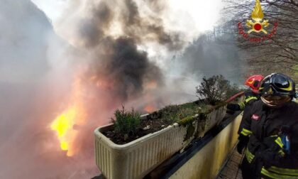 Incendio in una sfilacciatura a Rocca Pietra