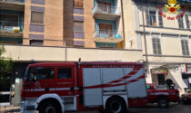 Principio di incendio in appartamento in corso Prestinari