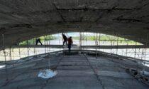 Ponte sul Po a Trino: ancora settimane di lavori in vista