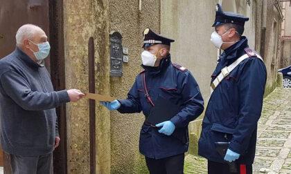Carabinieri a sostegno degli ultra 70 per la preadesione al vaccino