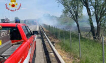 Borgovercelli: SP11 oscurata da maxi incendio sterpaglie