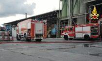Incendio all'interno di un'azienda siderurgica
