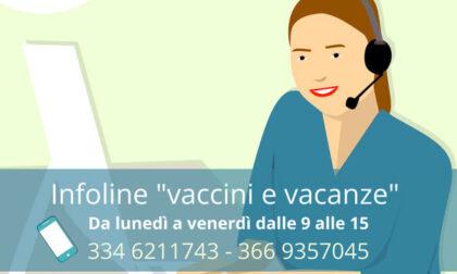 """""""Vaccini e vacanze"""": l'Asl attiva l'infoline per per la gestione"""