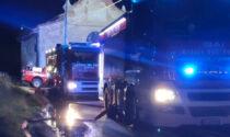 Cascine Strà: casa disabitata in fiamme