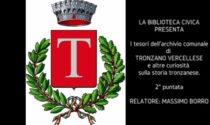 """""""I tesori dell'archivio comunale di Tronzano Vercellese"""": seconda puntata sul canale youtube della Biblioteca Civica"""