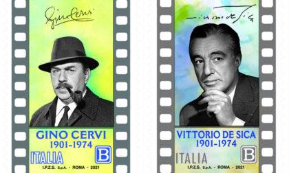 Due nuovi francobolli dedicati a Gino Cervi e Vittorio De Sica