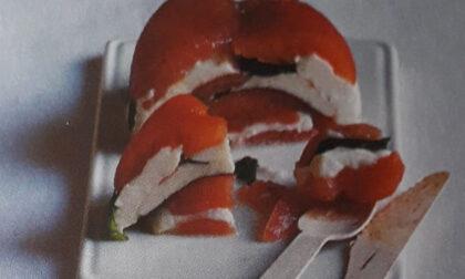 Terrina di pomodori canditi e mozzarella